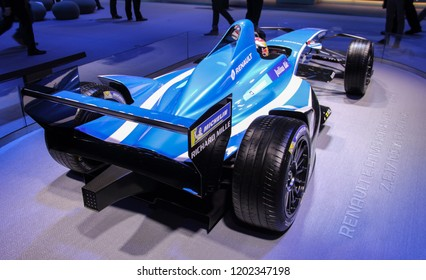 Switzerland; Geneva; March 8, 2018; Renault E. Dreams Formula E Team, rear side; The 88th International Motor Show in Geneva from 8th to 18th of March, 2018.