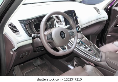 Switzerland; Geneva; March 8, 2018; The Renault Scenic interior; The 88th International Motor Show in Geneva from 8th to 18th of March, 2018.