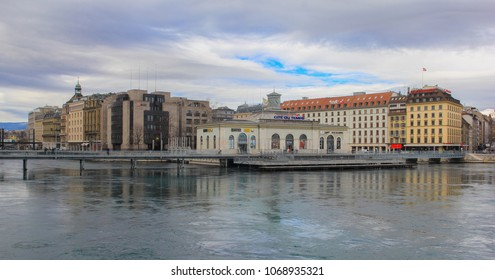 Switzerland; Geneva; March 9, 2018; Cite du Temps building in Geneva; It is multifunctional building intended for different kinds of events.