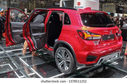 Switzerland; Geneva; March 9, 2019; Mitsubishi ASX; The 89th International Motor Show in Geneva from 7th to 17th of March, 2019.