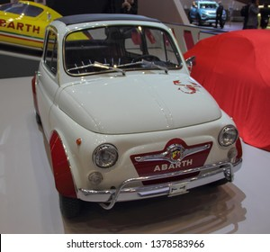 Switzerland; Geneva; March 9, 2019; Fiat Abarth 595 SS; The 89th International Motor Show in Geneva from 7th to 17th of March, 2019.