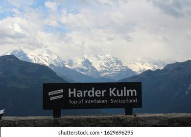 Switzerland Interlaken Harder klum signs