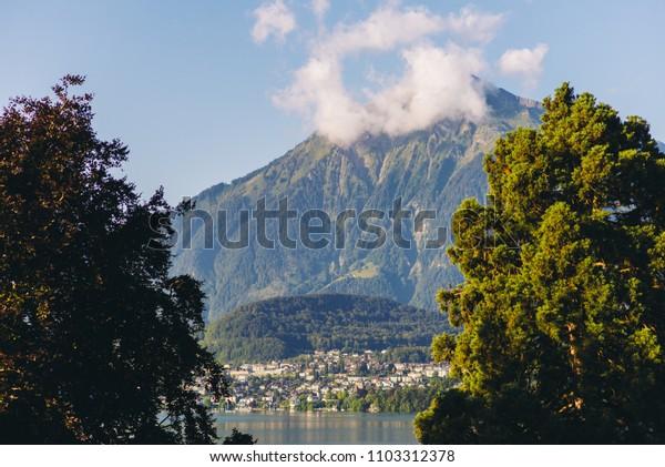 Switzerland lake landscape