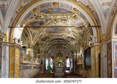 Switzerland, Locarno, 31 Aug 20. The Church of Madonna del Sasso above Locarno