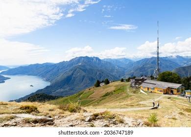 Switzerland, Locarno, 31 Aug 20. The Cimetta mountain top above Locarno