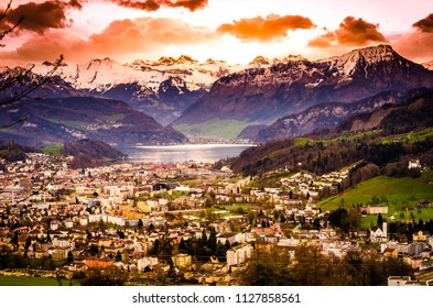 Switzerland, Lucerne. The beauty of the river