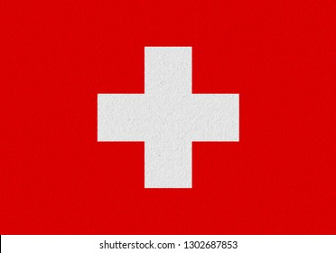 Switzerland paper flag. Patriotic background. National flag of Switzerland