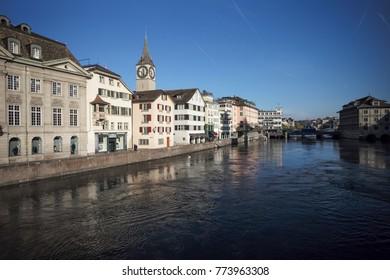Switzerland river in Zurich