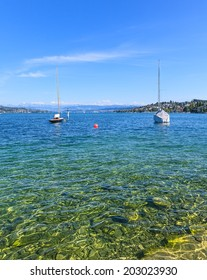 Switzerland, view on Lake Zurich in summer