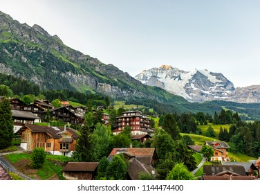 Switzerland - Wengen Village with Mountain View of Jungfrau