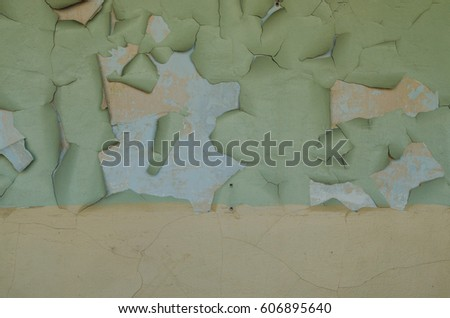 Swollen Peeling Paint On Old Wall Stock Photo (Edit Now) 606895640