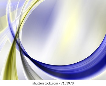 Swooping bands of color against texture - fractal abstract background