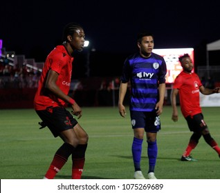 The Swope Park Rangers and Phoenix Rising at Phoenix Rising Soccer Complex in Tempe,AZ USA April 21,2018.