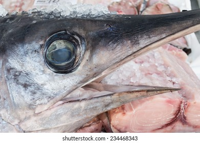 Sword Fish on sale at thelocal fish market. Close up