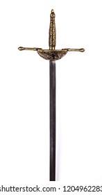sword hilt on white background