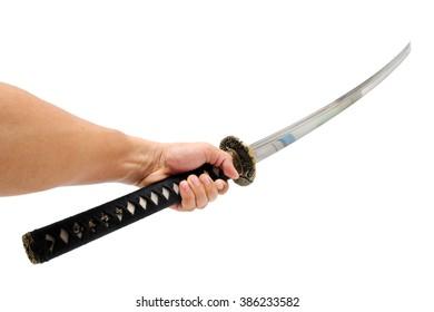 sword - knife on hand