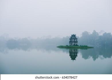 Sword Lake, Turtle Tower, Hanoi, Vietnam