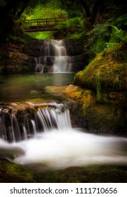 The Sychryd Cascades, (Sgydau Sychryd in Welsh) a set of waterfalls near the Dinas Rock, Pontneddfechan, South Wales, UK
