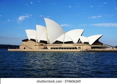 SYDNEY - AUG 22: Sydney Opera House view on August 22, 2015. in Sydney, Australia. The Sydney Opera House is a famous arts center. It was designed by Danish architect Jorn Utzon.