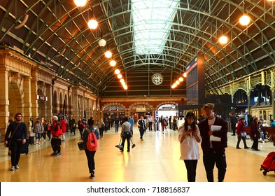 SYDNEY - AUGUST 11, 2017:The largest railway station in Australia, Interior of Sydney Central Station. it is the busiest station in New South Wales.