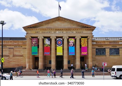 SYDNEY, AUSTRALIA -17 DEC 2014- The Art Gallery of New South Wales is a major public museum which exhibits Australian, European and Asian art. It is located in The Domain in Sydney.