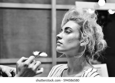 SYDNEY / AUSTRALIA - 20 May: Models stylists makeup artists get prepared for show before Raffles International Showcase at Mercedes Benz Fashion Week Australia on 20 May 2016 in Carriageworks Sydney