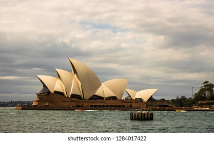 Sydney, Australia - 2019: Sydney Opera House, one of the most famous and distinctive buildings in the world.