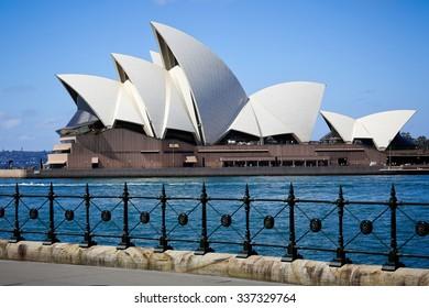 SYDNEY, AUSTRALIA, 26 SEPTEMBER 2014 - Sydney opera house. Iconic and world famous landmark of Australia