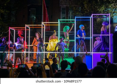 SYDNEY, AUSTRALIA - 3rd of March 2018 Mardi Gras event.