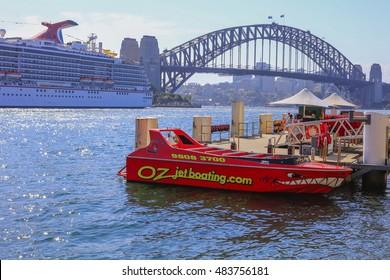 SYDNEY, AUSTRALIA : 9 SEPTEMBER 2016 - Speed boat at Sydney darling harbour, Sydney, New South Wales