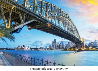 Sydney, Australia. Amazing skyline at dusk.
