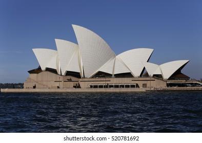 SYDNEY, AUSTRALIA - April 02, 2016: Sydney skyline and the Sydney Opera House.