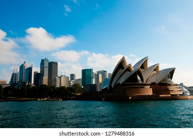 SYDNEY, AUSTRALIA - April 6, 2018: Sydney Opera House & the central business district