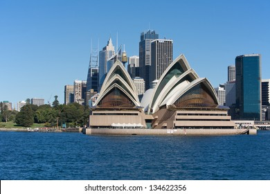 SYDNEY, AUSTRALIA - AUGUST 01 : Sydney Opera House and city centre. 01 August 2009 in Sydney, Australia. A famous tourist attraction and popular landmark