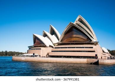 Sydney, Australia - AUGUST 13, 2015: The Sydney Opera House on a Sunny Day