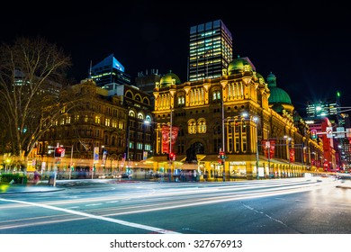 SYDNEY, AUSTRALIA - AUGUST 20, 2013 : Queen Victoria Building view at night on August 20, 2013 in Sydney, Australia