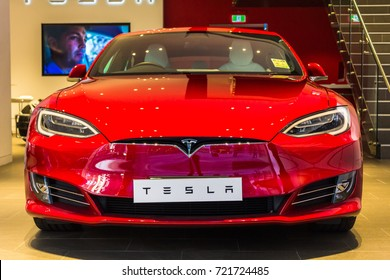 Sydney, Australia, August 2017 : Tesla new car in close view