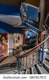 Sydney, Australia, August 28, 2020. Staircase of Queen Victoria Building