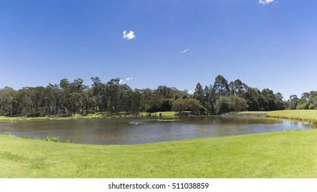 Sydney, Australia The beautiful lake in Macquarie Park