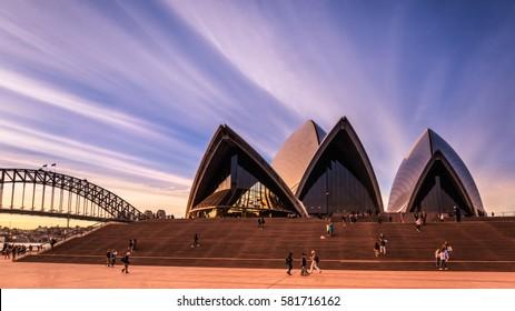 SYDNEY, AUSTRALIA - CIRCA AUGUST 2016: The Sydney Opera House, Sydney, Australia