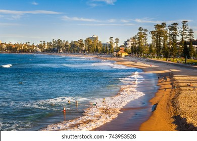 SYDNEY, AUSTRALIA - CIRCA AUGUST 2016: Manly Beach, Manly, Northern Sydney, New South Wales, Australia