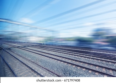 Sydney, Australia, city rail railway track