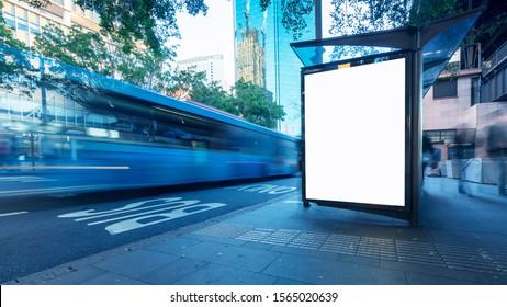 Sydney, Australien, Stadtstrassen und Bushaltestellen