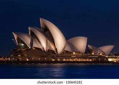 SYDNEY, AUSTRALIA- DEC 14: The Sydney Opera House on December 14th, 2012 in Sydney, Australia. The Opera House was made a UNESCO World Heritage Site in June 2007 and is Australia most famous landmark.