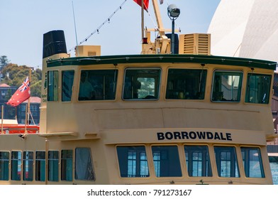 Sydney, Australia - December 02, 2008: Sydney ferry boat close up. Sydney public transport