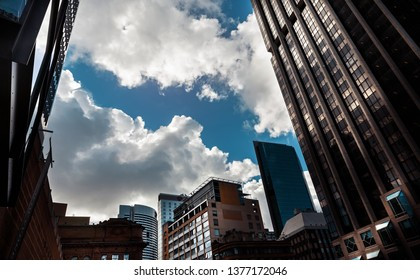 SYDNEY, AUSTRALIA - DECEMBER 12, 2014: The Sydney central business district is the main commercial centre of Sydney, Australia