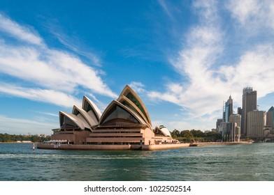 Sydney, Australia - December 2, 2008: Sydney opera House and Sydney CBD cityscape