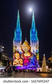 Sydney, Australia, December 24 2015, St. Mary Sydney Catedral