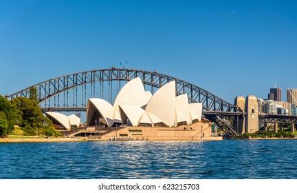 Sydney, Australia - December 25, 2016: Sydney Opera House and Harbour Bridge - Australia, New South Wales