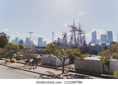 SYDNEY, AUSTRALIA - December 26th, 2014: view of Sydney's Cowper Wharf area near Potts Point